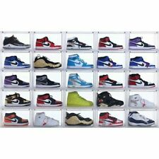 6 Box Set Magnetic Drop Front Shoe Stackable Sneaker Large Container High Top AJ
