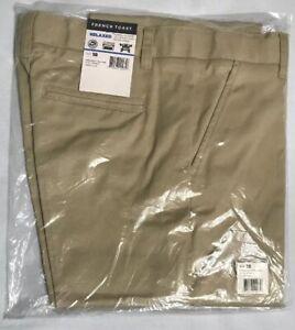 French Toast Boys Pants Flat Front Stretch Khaki Size 18, Big Boys Adjustable