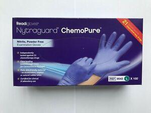 Nytraguard ChemoPure Nitrile Examination Gloves (100) - Large