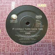 """CHER - - IF I COULD TURN BACK TIME - 1989 Australian 7""""  -  Looks Unplayed!"""