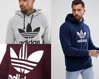 Adidas Trefoil hoodie Men,s-Maroon-H.Grey-Navy