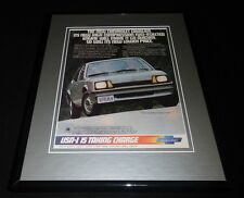 1982 Chevrolet Cavalier Framed 11x14 ORIGINAL Vintage Advertisement