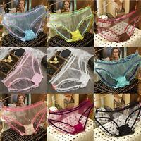 Women Transparent Mesh Ultra-thin Knicker Underwear Lingerie Lace Panties Thongs