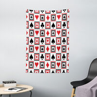 Casino Tapestry Icons of Playing Cards Print Wall Hanging Decor