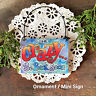 DECO Mini Fun Sign GONE CRAZY Be Back Soon Wood Ornament Office Cubicle Decor