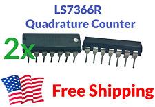 2-PACK LSI 7366R LS7366R LS7366 Quadrature Encoder Counter DIP Servo IC Arduino