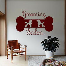 Dog Wall Decals Grooming Salon Decal Vinyl Sticker Poodle Art Mural Decor MN1016