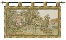 "THE HAYWAIN - JOHN CONSTABLE 27"" X 43"" FULLY LINED BELGIAN TAPESTRY WALL HANGING"