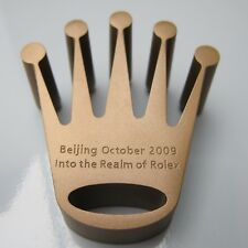 Rare ROLEX Crown Bronze Paperweight BEIJING 2009 promotional collectable VIP