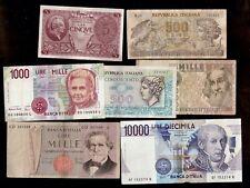 Lotto Banconote ITALIANE REPUBBLICA/REGNO TOTALE14005 LIRE SPEDIZIONI COMBINATE