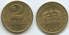 G8640 - Jugoslawien Königreich 2 Dinara 1938 KM#20 XF Petar II.1934-1945
