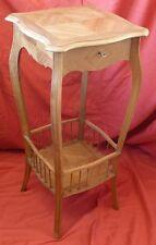 Travailleuse sellette en bois de noyer Fin XIX Guéridon Miroir et compartiment