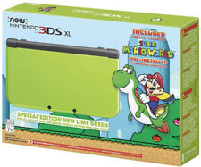 Nintendo 3DS XL Special Edition: Lime Green Super Mario World Pre-installed Mint