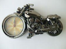 New Black Motorcycle Quartz Alarm Clock Ordinary Ringtones Best Gifts