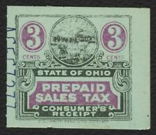 3c Ohio: Prepaid Sales Tax Consumer, Used [3] **ANY 4=FREE SHIPPING**