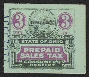 3c Ohio: Prepaid Sales Tax Consumer, Used [3] **ANY 5=FREE SHIPPING**