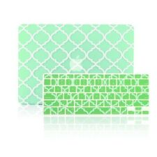 "Quatrefoil Matte Green Hard Case +Keyboard Cover for Macbook Air 13"" A1369/A1466"