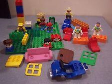 #40 lego duplo odd lot specialty pieces plates figures buzz bob builder skater