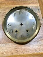 Nice Old Seth Thomas Clock Dial Pan/Bezel w/Convex Glass (Fits 120 Mvmt) (K1213)