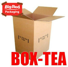 10x Tea Chest Moving Box 430x400x600mm Cardboard Carton Removalist