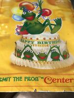 Vintage Muppets Kermit The Frog Centerpiece Happy Birthday Hallmark Decoration