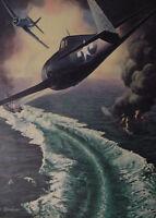 1944 Original Esquire Art WWII Era Alexander Leydenfrost Navy Hellcats