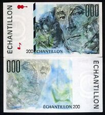 France, French Test Note, Echantillon, 200, Ravel, UNC