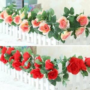 Artificial Fake Flower Vine Hanging Garland Valentine's Day Wedding String Decor