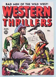🍁 Western Thrillers #1 Fox August 1948 FN Classic Cover Kamen Art, Clean Comic