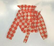 vintage Barbie Doll Clothing: 1975 Best Buy rare orange checkered tie SHIRT