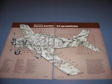 VINTAGE..SOCATA GARDAN GY-80 HORIZON...CUTAWAY/LEGEND..RARE! (753P)