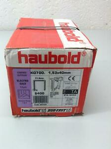 haubold Klammern KG 700 Ø1,53x40mm Electro Galv 5400stück!!! Neu ab 1 Euro!!