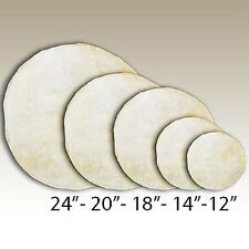 "Goat Rawhide Leather Native American Drum Covers 17""-19"""