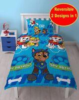NEW PAW PATROL SPY SINGLE DUVET QUILT COVER SET CHILDRENS KIDS BOYS BLUE BEDROOM