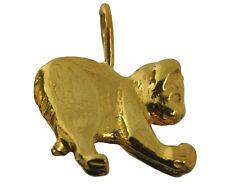 New Cute Playful Kitty Cat Kitten playing ball Charm 24K Gold plated Jewelry