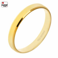 NEW Men's Women's 4 MM Stainless Steel Wedding Band Ring High Polished