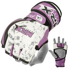 MMA Gloves Grappling Glove Boxing Punch Fight UFC Cage Muay Kick Puple, Large