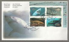 1997 Canada Fish Plate Block FDC. Shark, Tuna, Halibut, Sturgeon First day Cover