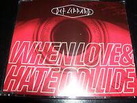 042285242126Def Leppard When Love & And Hate Collide Rare Australian 3 Track