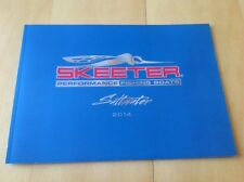 2014 Skeeter Saltwater Ocean Fishing Boat Catalog Brochure Book Angler Bay SX