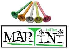 10 Genuine Martini Multi Color Assorted Authentic Plastic Golf Tees Durable