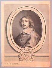 Burin de Van Schuppen, Portrait du Cardinal de Retz, 17ème siècle