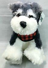 "Nwt Jaag 12"" Miniature Schnauzer Dog Plush Stuffed Animal"