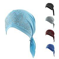 NEW Women Cancer Hat Chemo Cap Hair Loss Head Scarf Turban Head Wrap Cover