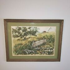 LUDLOW THORSTON SIGNED ** ORIGINAL ** WATERCOLOR PAINTING LANDSCAPE