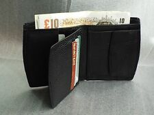 Men's Real Leather Credit Card Holder Wallet with Coin Pocket Photo Id Grain Cow