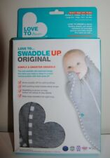 love to dream swaddle up, small size in grey, never used.