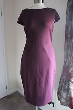 size 14 petite stunning purple body con dress marks and spencer brand new