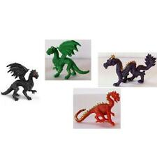 Doll House Shoppe 4 Toy Dragon Set different colors Micro-mini Miniature gemjane