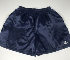 Rare Vintage 90s Adidas Running Athletic Soccer Shorts Blue Nylon Medium
